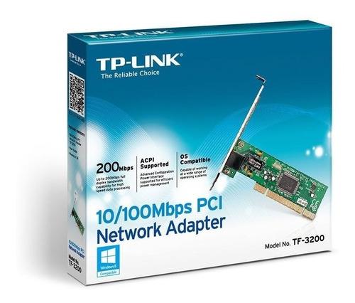 Placa De Rede Tp-link Pci 10/100mbps Tf-3200