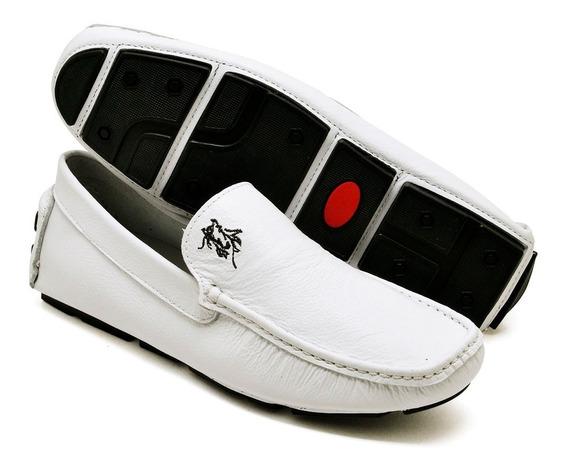 Kit 2 Sapatos/ Tênis/ Polo P. Couro Masculino Mocassim