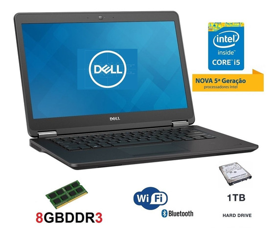 Ultrabook Dell I5 5ª Geração 8gb Hd 1tb Promoção Semi Novos