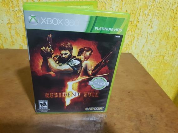Resident Evil 5 Usado Original Manual Xbox 360 Midia Fisica