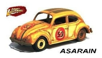 Jl - Vw - Fusca Herbie Meu Fusca Turbinado Demolição 1/64