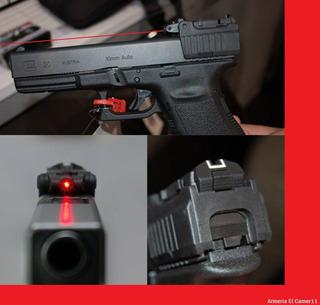 Apuntador Mira Trasera Laser Glock 25 17 19 22 23 Air