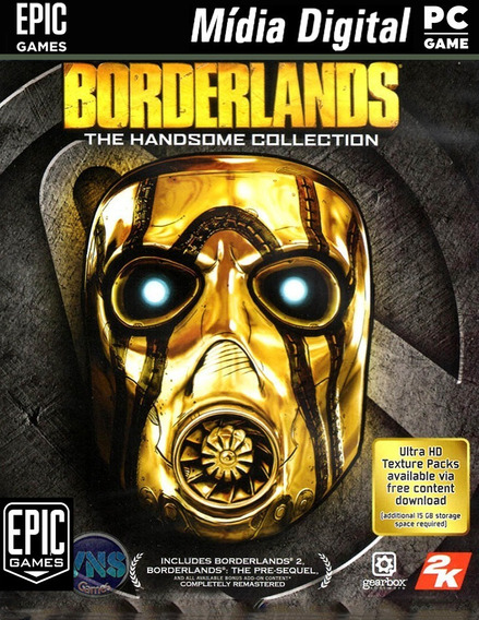 Epic Games Com Borderlands: Handsome & + Jogos P/computador