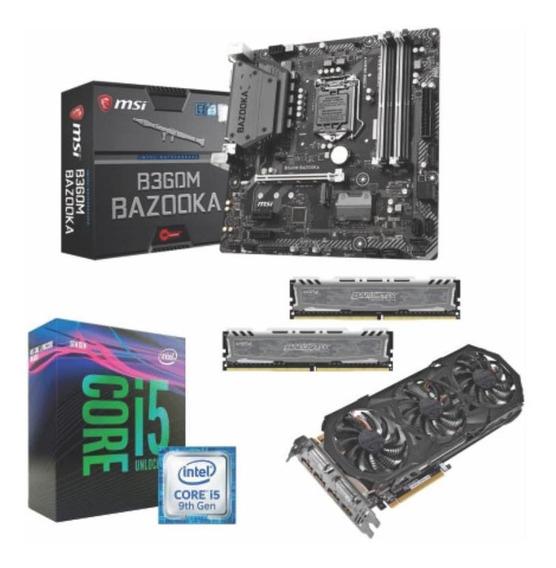 Kit Intel I5 9400fmsib360mbazooka+16gb2666+gtx970