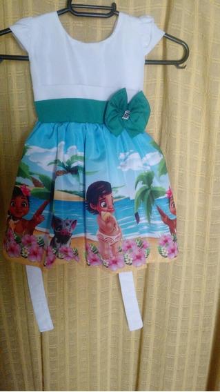 Vestido Moana Baby 1 Ano.