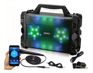 Caixa De Som Amplificada Led Bluetooth Mp3 Sd Super Bateria