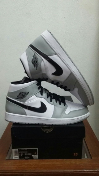 Tenis Air Jordan 1 Mid Light Smoke Grey Talla 29.5cm-9.5mx