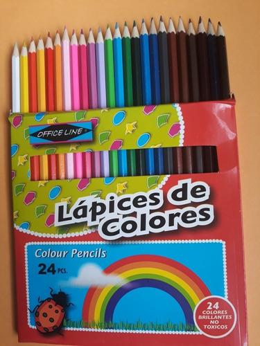 Creyones De Madera 24 Colores Precio Media Docena = 6 Cajas