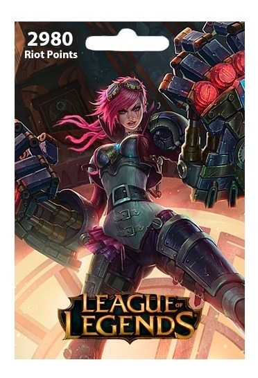 Cartão League Of Legends Lol - 2800 Riot Points Brasil Br