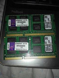 Memoria Ram Laptop 1x8gb 1333mhz Ddr3 Kingston
