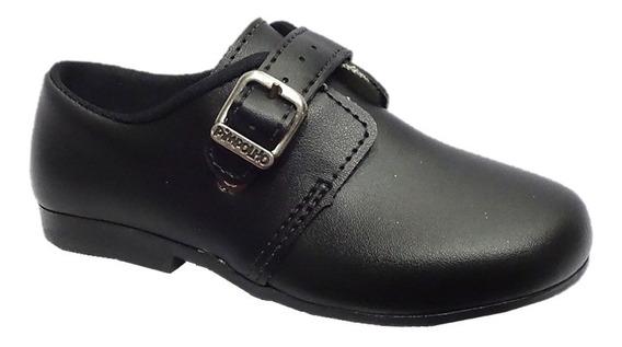Sapato Infantil Menino Social Fivela Pimpolho Preto 004803