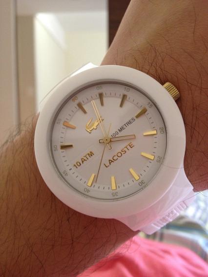 Relógio Lacoste Original - Branco/dourado