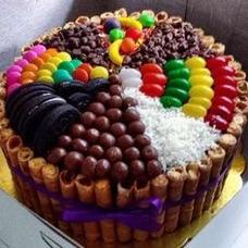 Tortas Decoradas En Carolas Con Dulces