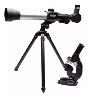 Kit Telescopio Y Microscopio Vivitar 20x 30x 40x