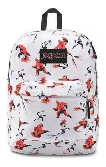 Mochila jansport superbreak Blanca Increibles 2