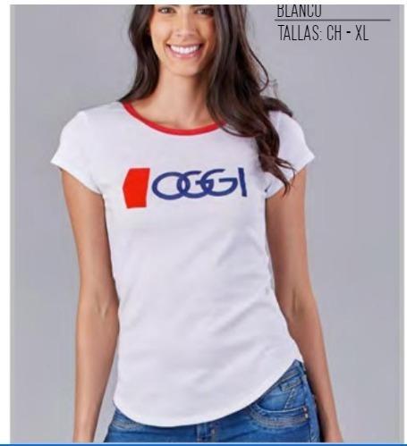 Playera Oggi Top Mujer Color Blanco 483022 Oggi 2-19 D