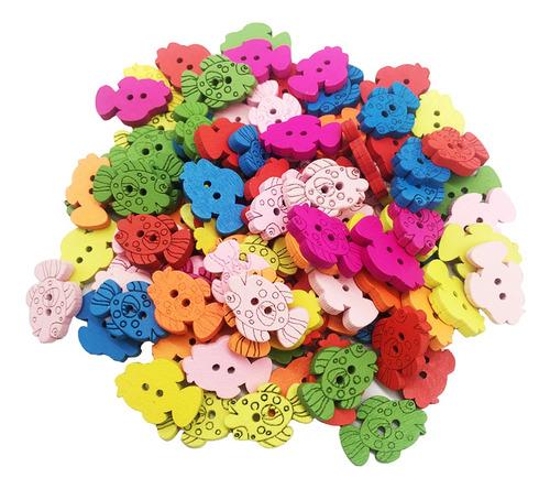 Imagen 1 de 7 de 100 Piezas De Botones De Bebé Novedosos Botones De Costura