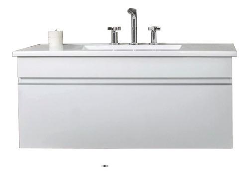 Vanitory Colgante 100 1 Metro Cm Laqueado Blanco Calidad