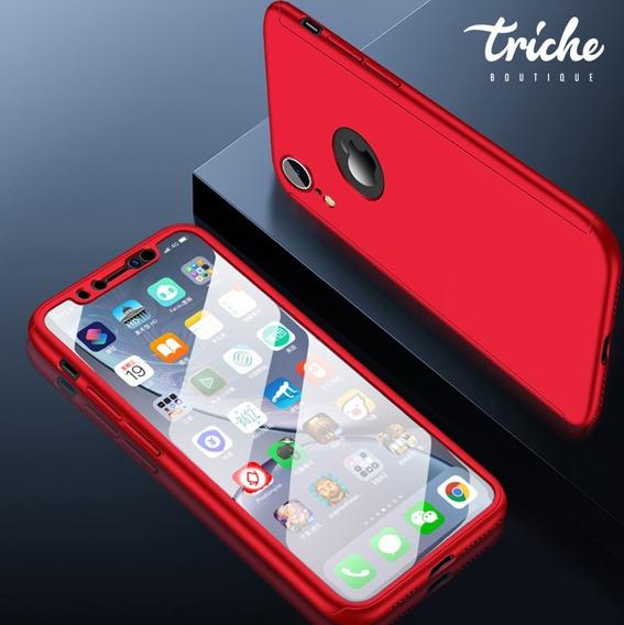 Funda 360 + Cristal Oficina Slim Seria Colores iPhone XR