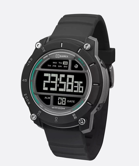 Relógio Xgames Xmppd511 Pxpx Preto E Verde Xmppd 511