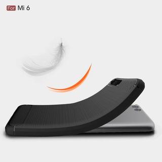 Capa Case De Silicone Preta Para Xiaomi Mi6 Frete Grátis.
