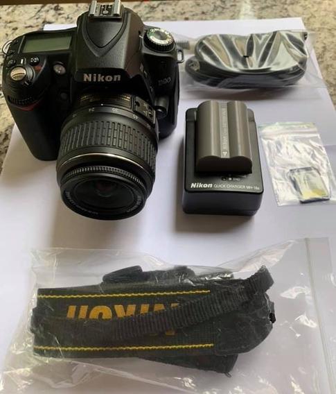 Câmera Nikon D90 + Lente 18-55 Frete Grátis 12x Sem Juros!
