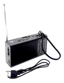 Mini Rádio J-351 Fm/am/usb/sd/receptor De 3 Bandas