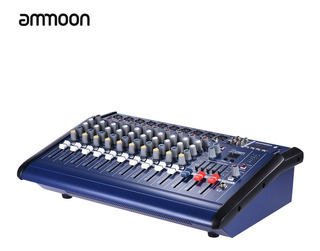 Ammoon 10 Canales Powered Mixer Amplificador Digital Consola
