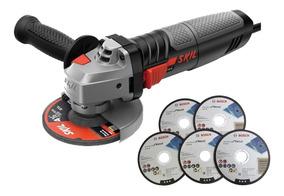 Esmerilhadeira Lixadeira Ferro 9004 4.1/2 830w + Discos Skil