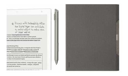 Sony Dpt-rp1 13.3 16gb Digital Paper Sistema White Border ®