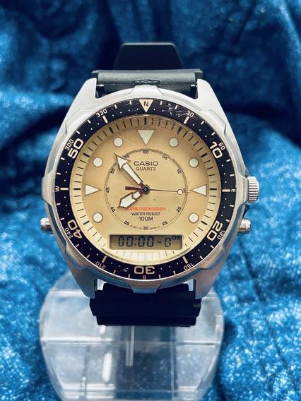 Relógio Cronógrafo Casio Original Masculino C/ Alarme 46mm