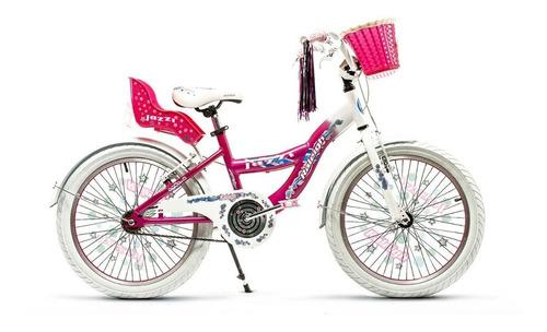 Imagen 1 de 1 de Bicicleta infantil Raleigh Jazzi R20 frenos v-brakes color rosa/blanco con pie de apoyo