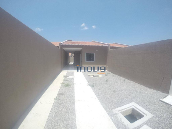 Casa Com 2 Dormitórios À Venda, 83 M² Por R$ 140.000,00 - São Vicente - Pacatuba/ce - Ca0657