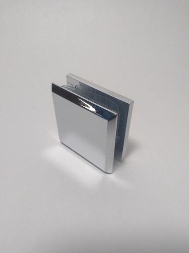 Clip Para Vidrio Cromado Biselado 4.5 Ctms