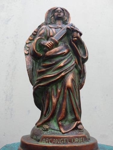 Estatua Arcangel Uriel Símil Cobre Oxidado Sólo X Pedido