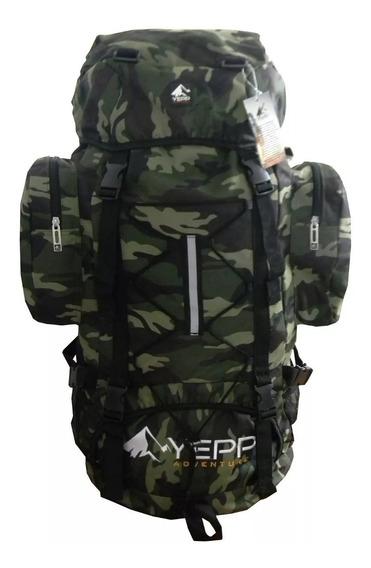 Mochila Lona Camuflada Exército Militar Impermeável 3008 75l