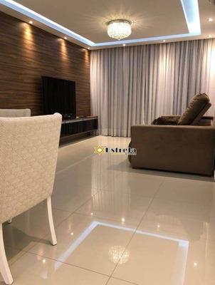 Cobertura Com 3 Dormitórios À Venda, 200 M² Por R$ 850.000 - Campo Da Aviação - Praia Grande/sp - Co0249