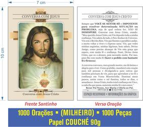 Santinho Conversa Com Jesus (milheiro Pagar Promessa)