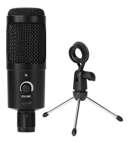 Microfono Condenser Usb Elefir At2020 Tripode Pc Mac Premium