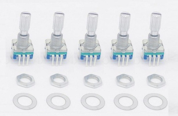 10 Peças Encoder Rotativo Ec11 - Haste 20mm - Modelo Plum