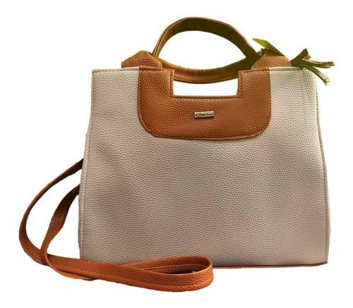 Imagen 1 de 2 de Bolso Para Dama Sara Beige Camel Grande Premium