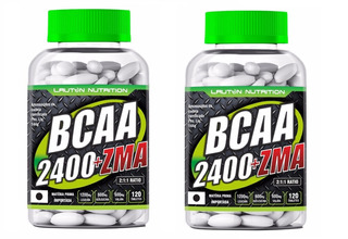 Bcaa 2400 + Zma Lauton Nutrition 120 Tabletes 2unid Frt Grts