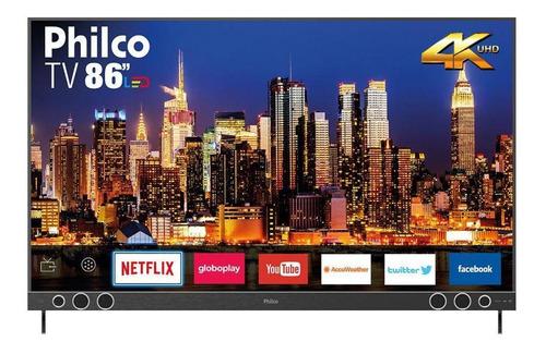 Imagem 1 de 3 de Smart Tv 86  4k Sb Led Philco Bivolt