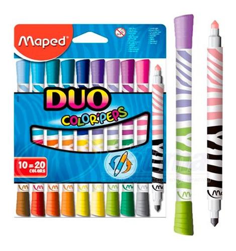 Marcadores Maped Colorpeps Duo X10 20 Colores Educando
