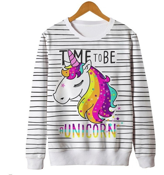 Blusas Femininas Moletom Roupa Unicornio Tumblr Cute Fofo Mt