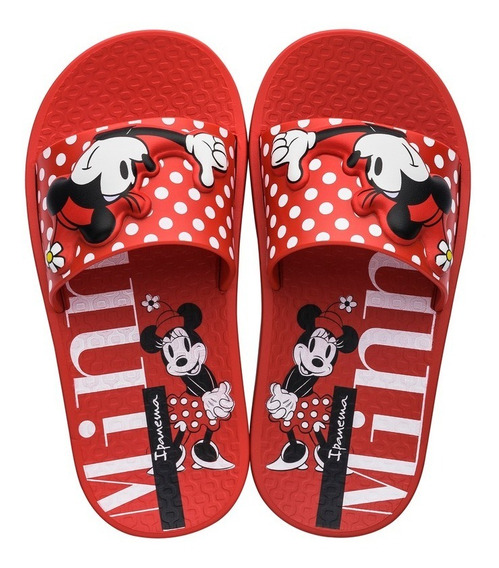 Chinelo Infantil Ipanema Disney 26424 Minnie - Vermelho