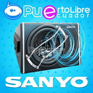 Sanyo Potente Bajo Subwoofer Amplificado 1200w + Kit Cables