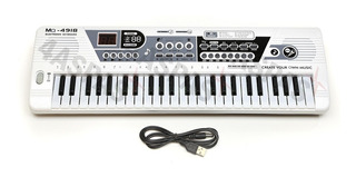 Organo Teclado Musical 49 Teclas Microfono Modo Aprendizaje