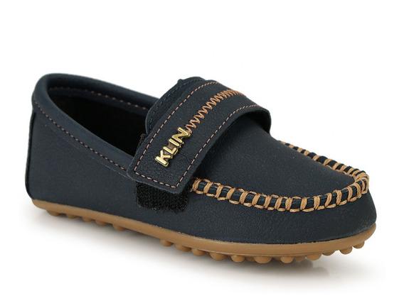 Sapato Mocassim Infantil Klin Curumim Velcro