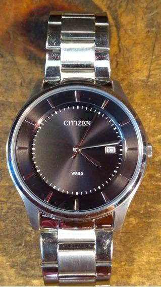 Reloj Citizen De Cuarzo Nuevo Precioso De Acero